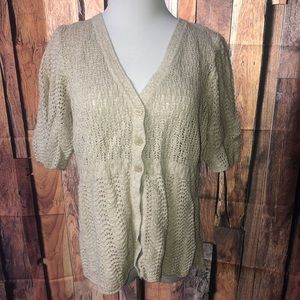 Christopher & Banks Crochet Sweater
